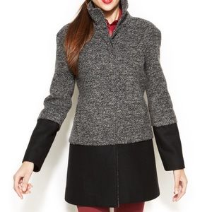 *NWT* INC Grey/black Colorblock Coat