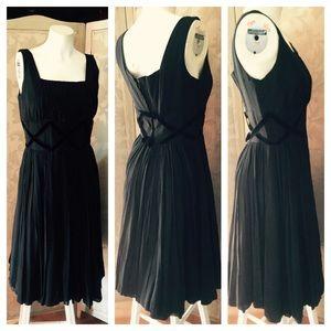 Vintage Black Evening Sleeveless Cocktail Dress