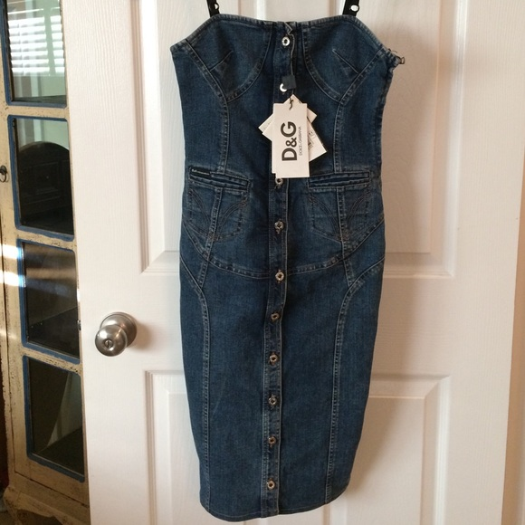 fb682e7b7f D&G Dresses | Dg Dolce Gabbana Denim Dress Nwt | Poshmark