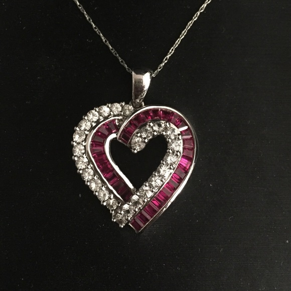 20 Off Zales Jewelry Synthetic Ruby And Diamond