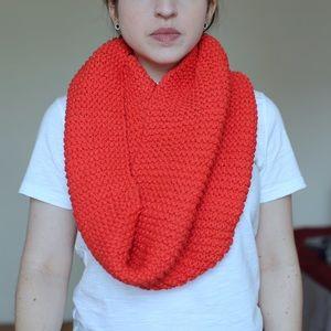 NWT Handknit Cotton Emily Keller Infinity Scarf