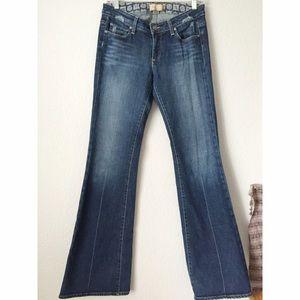 Paige Jeans Denim - Paige Denim Dark Flare Jeans