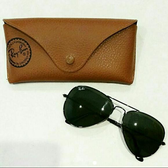519a53fc5f3 Ray Ban Aviator Classic Black Metal Sunglasses