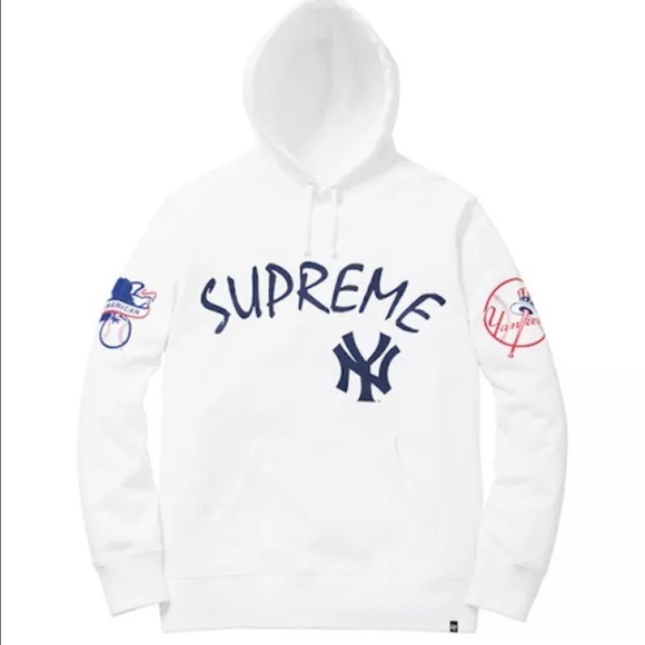 super popular 916d2 92337 Supreme New York Yankees hoodie