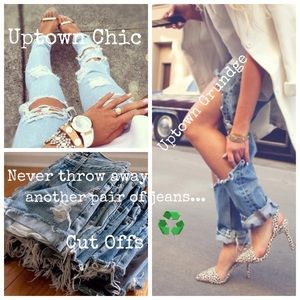 The Retro Hippie Other - DIY Distressed Jeans