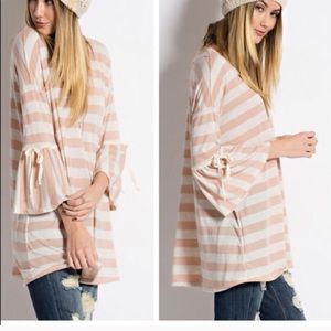 Oversized Loose Striped Top