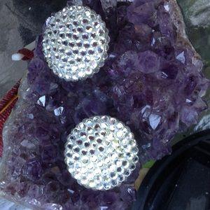 Vintage RICHARD KERR Crystal Collector Ear Circles