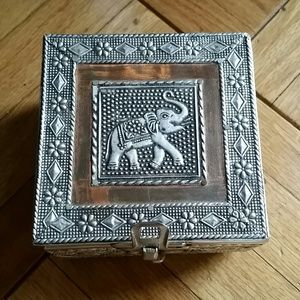made in india Jewelry Vintage Copper And Silver Elephant Box Poshmark