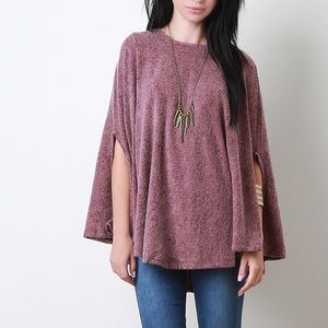 """Beyond the Stars"" Cape Poncho Top"