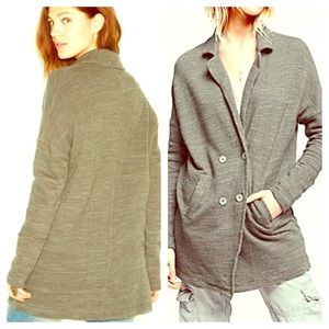 FREE PEOPLE Long Cardigan Oversized Utility NWT