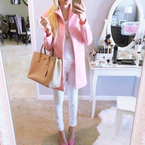 38% off Pandora Jackets & Blazers - Long Pink Lapel Coat from ...