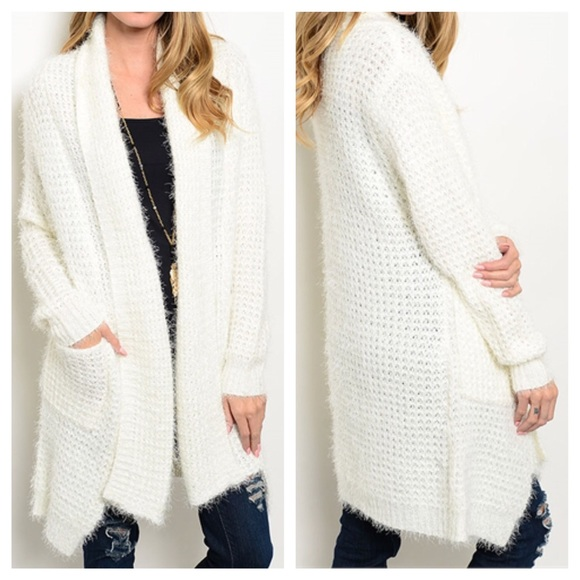 and Soft Long Ivory Fuzzy Cardigan RSHq8dS
