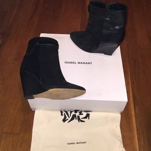 Isabel marant black booties size 37