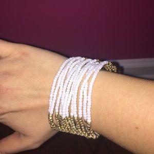 White and Gold Bracelet