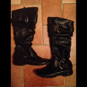 Traffic Shoes - Traffic buckled boots, size 7