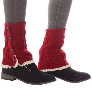 Accessories - Boot cuffs with lace and button detail