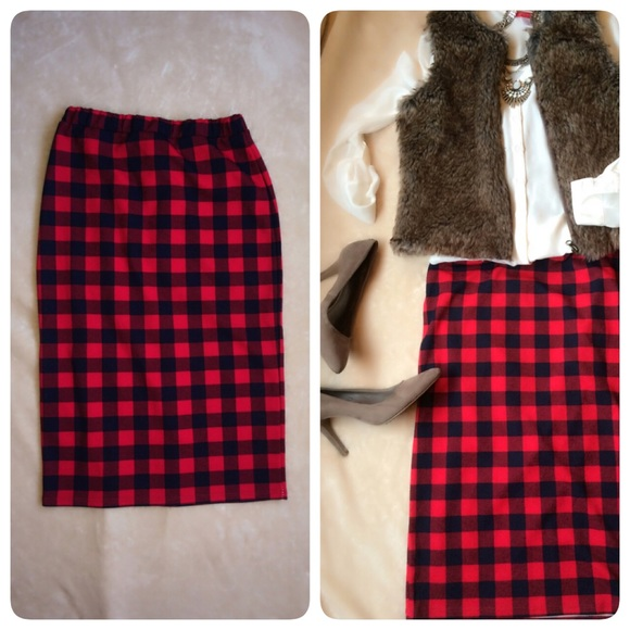 29% off Moa Moa Dresses & Skirts - Beautiful Buffalo Plaid skirt ...