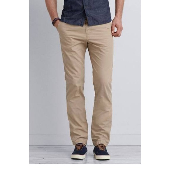 straight fit khaki pants - Pi Pants