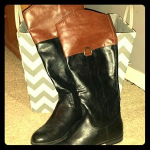 Leather Black and Brown Boots