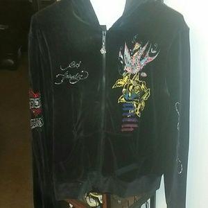 Ed Hardy zip up goodie jacket