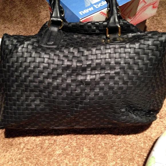 Deux Lux Bags Leather Basket Weave Satchel Poshmark