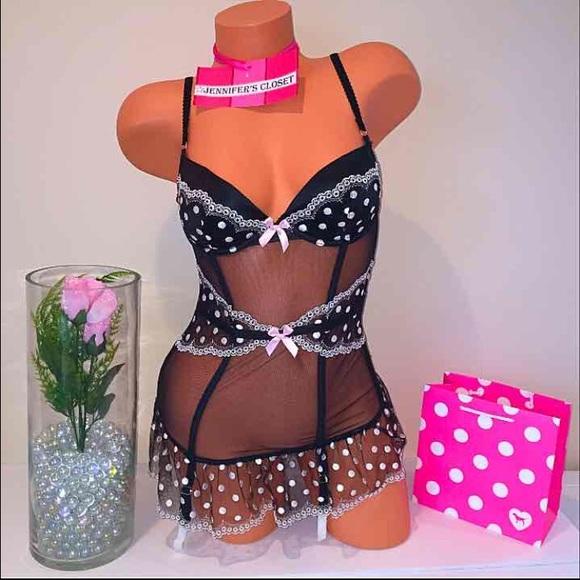 🎀Victoria secret Polka dot lingerie corset 4834e6864