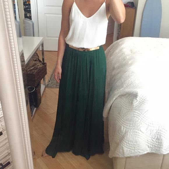 zara sold in bundle zara green maxi skirt from