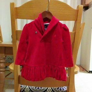 Red Ralph Lauren Velvet Dress 12M Baby
