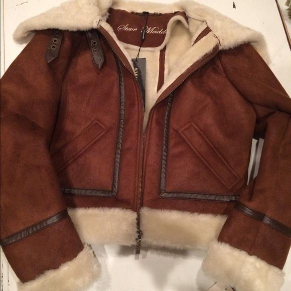 Steve Madden Jackets Coats Sale Faux Shearling Bomber Jacket