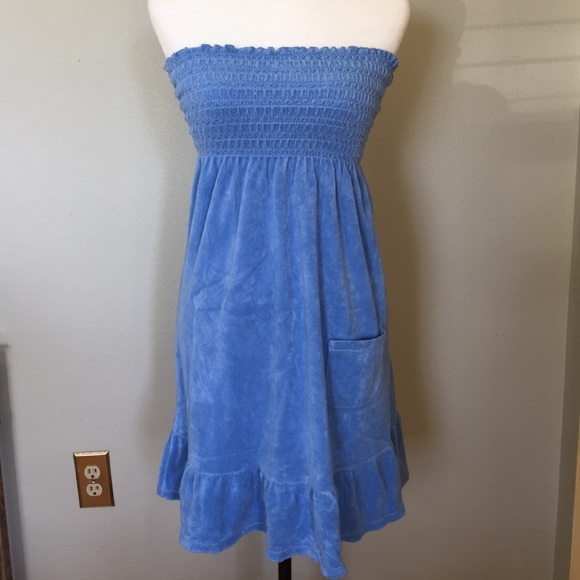 b3f6611d299 Juicy Couture Terry Tube Dress in Bluebird S