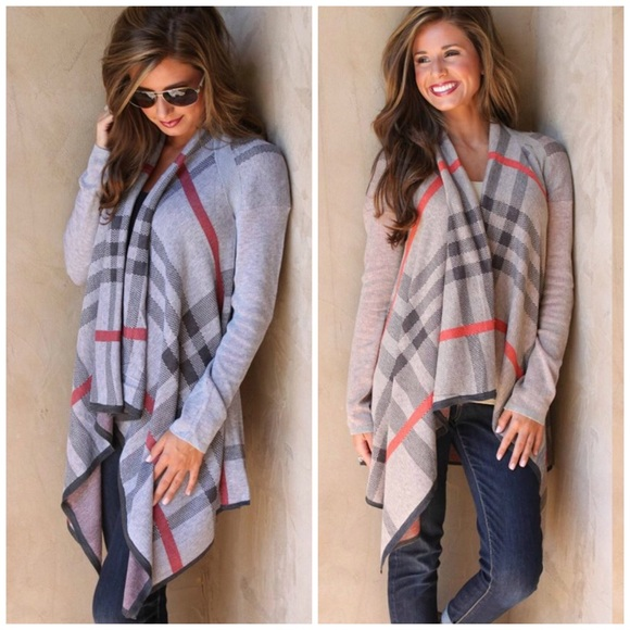 Boutique - 🆕 Plaid Open Front Cardigan Sweater from The snowy owl ...