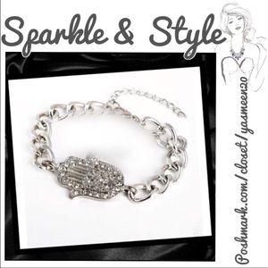 Jewelry - 🌟Silver tone hamsa bracelet