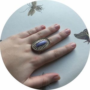 Jewelry - Purple and Bronze Adjustable Ring