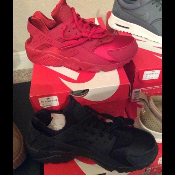 Nike Para Mujer Huarache Roja sOBYZ74