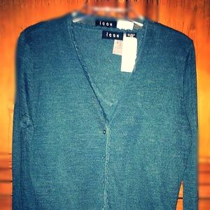 ICON Sweaters - NWT Stunning Icon Shell & Cardigan linen set