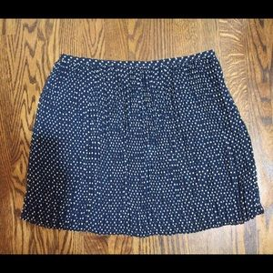 Madewell Navy Skirt with White Dots