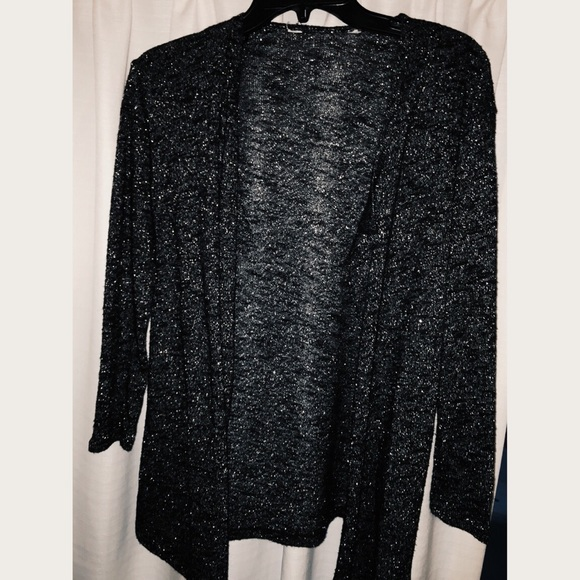 60% off Charming Charlie Sweaters - Black sparkly cardigan from ...