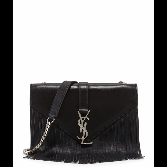 23aec72b389 Yves Saint Laurent Bags | Monogram Small Fringe Shoulder Bag | Poshmark