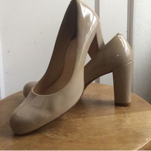 7dae094386973b Cole Haan Shoes - Cole Haan Ambrose Nike Air Pump Tan Patent Heels