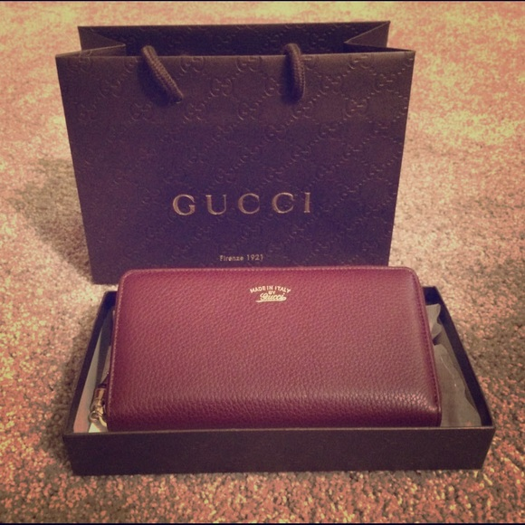 580e601a8402 Gucci Bags | Cellarius Classic Burgundy Wallet Bamboo | Poshmark