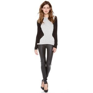 NWT Helmut Lang Stretch Leather Leggings Pants 6