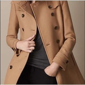 Authentic BURBERRY A LINE COAT JACKET WOOL