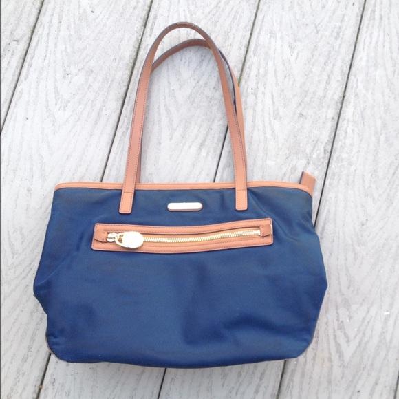 18% off Michael Kors Handbags - Michael Kors Nylon Navy Blue Tote ...