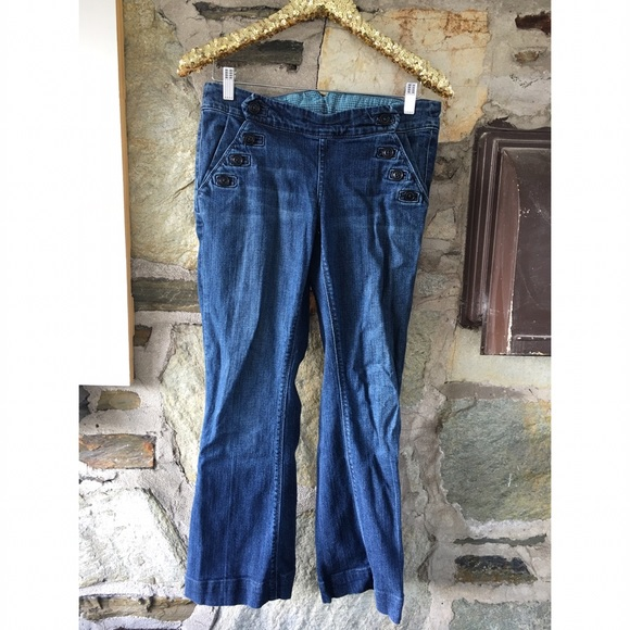 Lucky Brand bell bottom jeans with side buttons