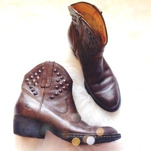 Born Studded Leather Booties