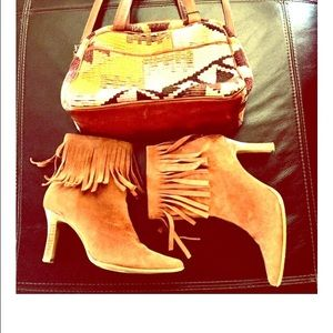 Wanted Shoes - Wanted Razzle Suede Fringe Ankle Boots