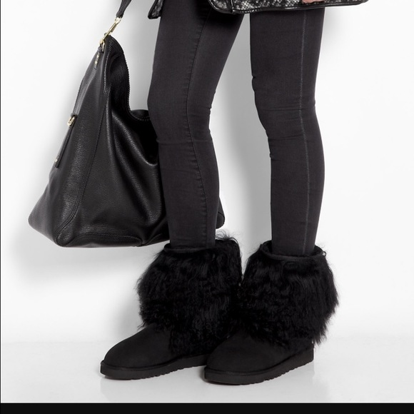 Limited Edition Short Sheepskin Cuff Boots