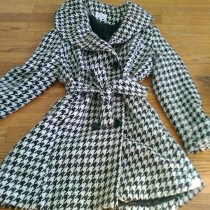 Patterned Trench Coat