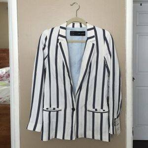Zara Jackets & Blazers - Zara striped blazer
