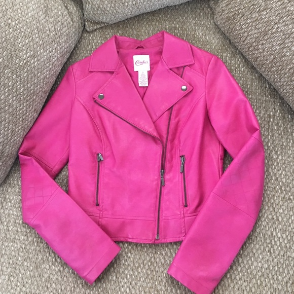 76% off Candie's Jackets & Blazers - Hot Pink Leather Jacket from ...